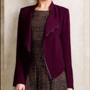 Anthropologie Elevenses Dimmet Drape Blazer